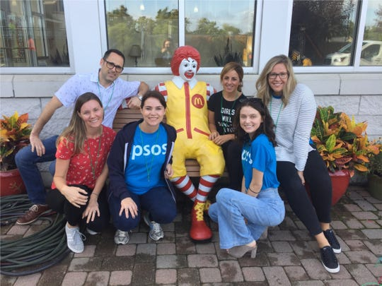 Ipsos employees at the Ronald McDonald House in Avondale.