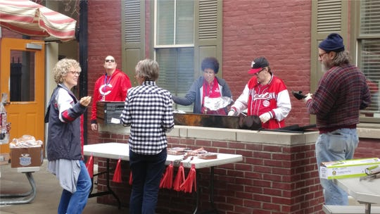 Tender Mercies hold a cookout on Opening Day.