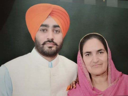 Jasdeep Hans and his mother, Amarjit Kaur