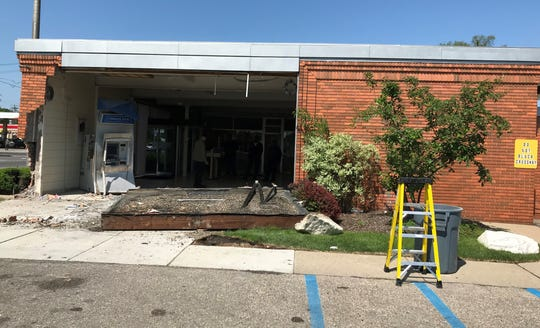 The break-in at a Comerica Bank branch on Detroit's west side did considerable damage.