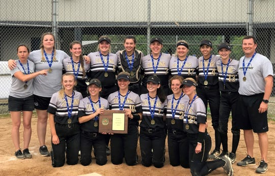The 2019 Section 4 Class AA champion Corning softball team.