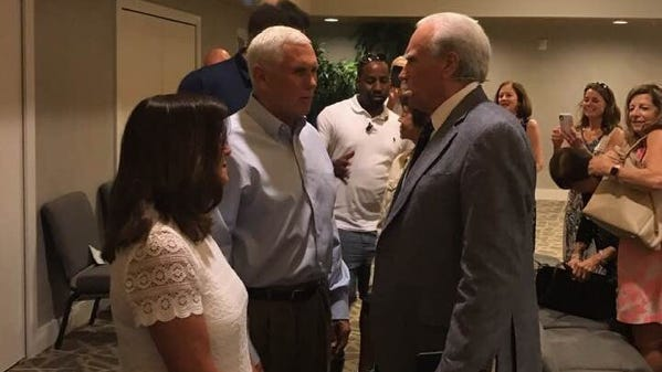 Vice President Mike Pence last year at a morning service at Sanibel Community Church.
