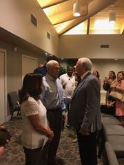 Vice President Mike Pence at the 11 a.m. service at Sanibel Community Church Sunday.