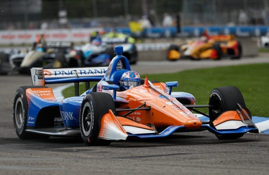 FILE -- Scott Dixon got spun out on the first lap and recovered to finish fifth at Elkhart Lake, Wis.