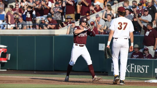 Mississippi State sophomore left-fielder Rowdey Jordan has been red-hot in the Starkville Regional this weekend.