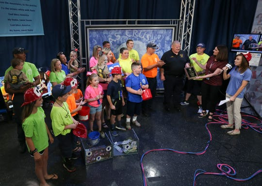 The Mount Washington Fire and Protection District passes the $1 million mark for all of their donations throughout the years, live on WHAS' Crusade for the Children on June 2, 2019.