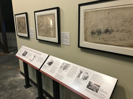 A new exhibit of the Battle of Atlanta cyclorama at the Atlanta History Center includes a display showing sketches made by Milwaukee artists.