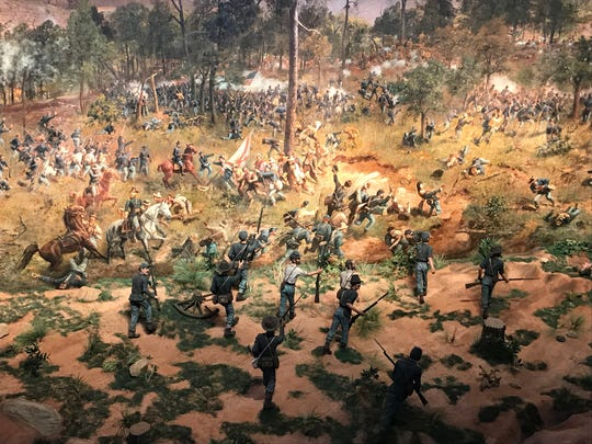 The Battle of Atlanta cyclorama was recently renovated for a new exhibit at the Atlanta History Center.