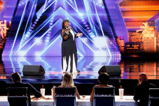 "Milwaukee singer Adaline Bates auditions on ""America's Got Talent."" The episode of the reality show airs at 7 p.m. Tuesday."