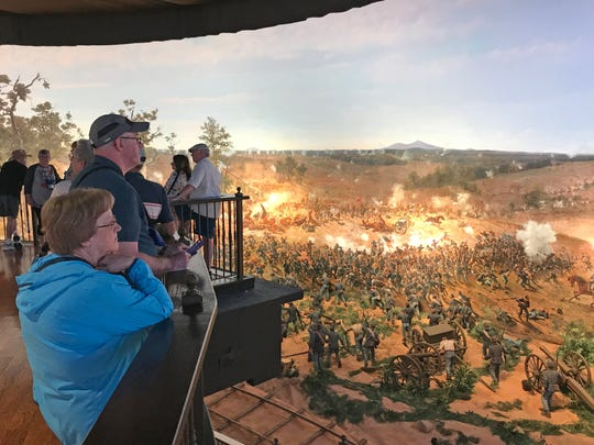 A 360-degree cyclorama of the Battle of Atlanta was recently refurbished and opened at the Atlanta History Center. The Battle of Atlanta cyclorama was created by Milwaukee artists in 1886 and depicts the scene at 4:30 p.m. on July 22, 1864, as Confederate troops broke through Union lines and took over a federal battery.