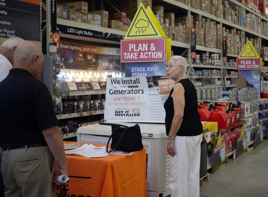 Iris Weissman and her husband, Barry, decided to invest in a full-size generator while shopping at Home Depot on Sunday, June 2, 2019.