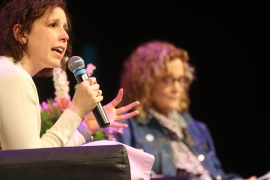 Former Saturday Night Live star and cancer survivor, Vanessa Bayer speaks at the Wyckoff YMCA, during National Cancer Survivors Day.  Sunday, June 2, 2019