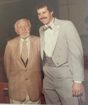 Bruce Fessier (right) at his 1984 wedding with Irving Mills, manager of Duke Ellington, Cab Calloway, Mae West and even comedian Milton Berle for a while.