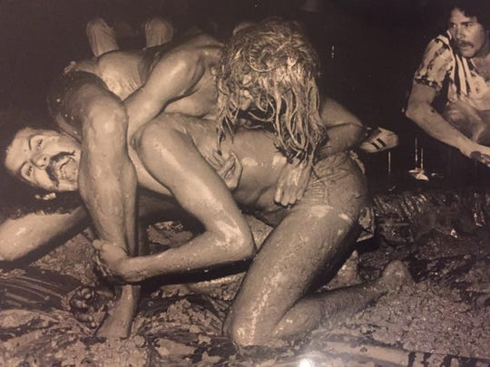 Bruce Fessier, in the days before he got married, got in the mud to do some wrestling in his pursuit of serious entertainment journalism.