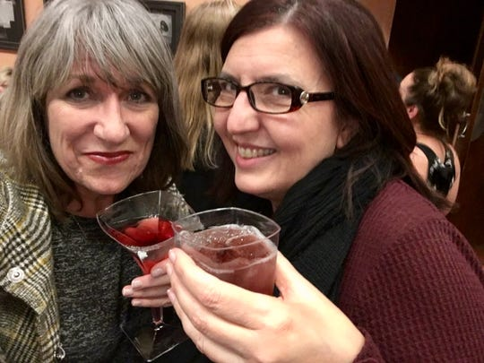 Me with my friend Niki Pallas enjoying a pre-show drink at Gammage. When I retire, I'll do more of this.