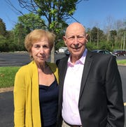 Joan and Lloyd Glick, parents of 9/11 Flight 93 hero Jeremy Glick. The New Jersey couple accepted their son's posthumous induction into the Rochester Jewish Sports Hall of Fame on Sunday at the Louis S. Wolk Jewish Community Center.