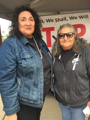 Angie Ortega, mother of Lorraine Ortega and Elsa Sandoval mother of Joseph (Joey) Sandoval ready to honor their loved ones at 'Stop the Violence' Event.