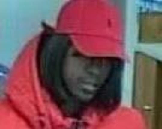A man is wanted in the robbery of U.S. Bank at 228 Marshall Drive in St. Robert on April 27, 2018.