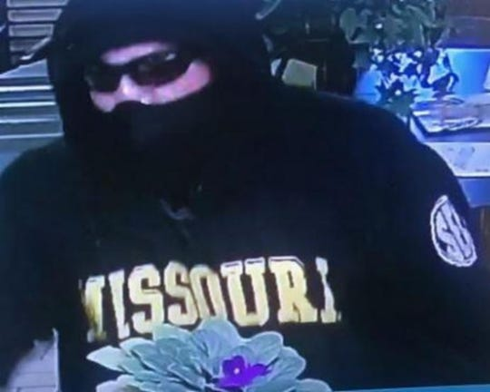 A man entered Town & Country Bank at 120 E. Highway 32 in Licking Sept. 4, 2018. He displayed a weapon in the bank and made an oral demand for cash.