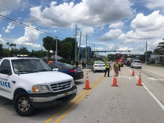 Man in serious condition after crash in Stuart Sunday afternoon.