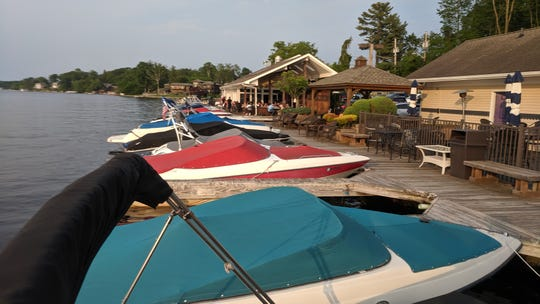 Boats line up in the slips at Blu restaurant in Mahopac on June 1, 2019