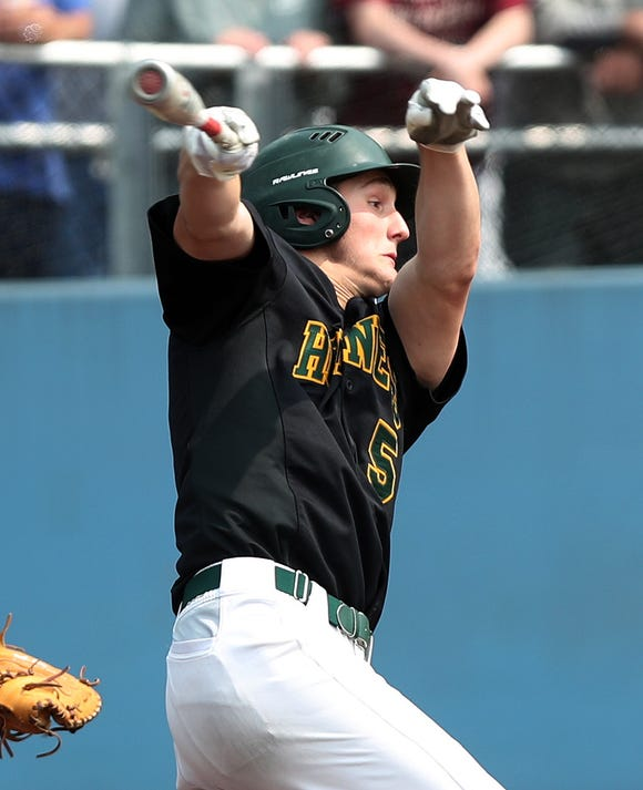 Lakeland's Joey Vetrano swings during the Section 1 Class A championship at Pace University in Pleasantville on June 1, 2019.