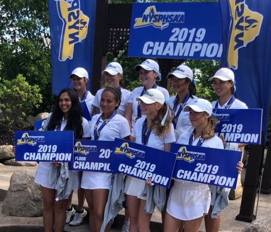 With Alice Hodge, Taylor Miano and Kaitlyn Lee finishing in the top five, Section 1 easily won the NYSPHSAA championship for the fifth straight year.