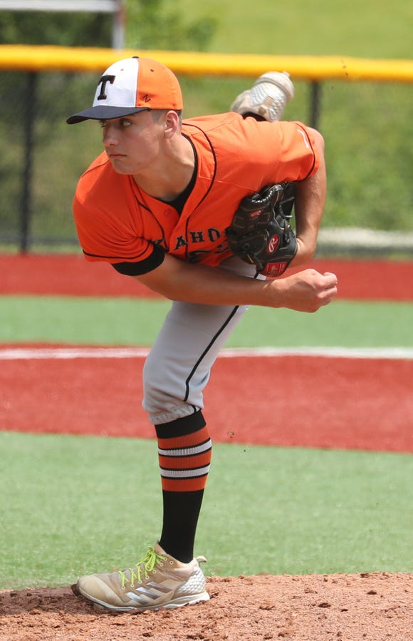 Michael Myers of Tuckahoe was the winning pitcher as Tuckahoe defeated Solomon Schechter 12-3 to sweep the best of three series and win the Section 1 Class C baseball championship at Pace University June 2, 2019.