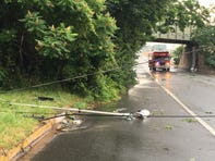 Fast-moving storms sweep across Delaware Sunday, some still without power