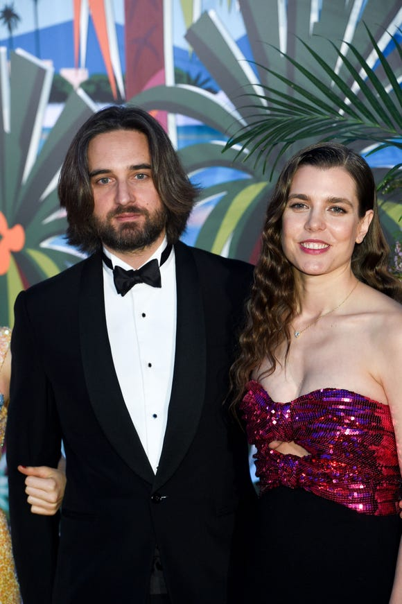 Dimitri Rassam and Charlotte Casiraghi attend the Rose Ball 2019 to benefit the Princess Grace Foundation on March 30 in Monaco.