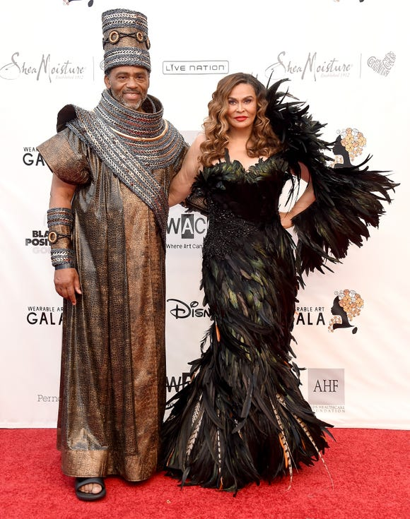 Richard Lawson and Tina Knowles Lawson glam up for the third annual Wearable Art Gala.