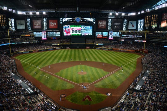 A view of the Diamondbacks' Chase Field