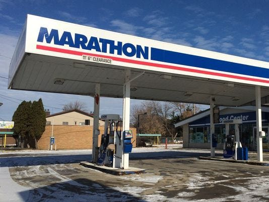 The Marathon station in Neenah has been closed for a year and a half.