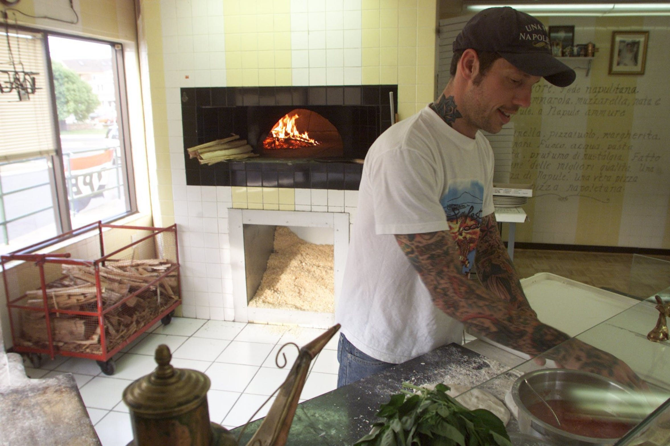 Anthony Mangieri in his first Una Pizza Napoletana restaurant in Point Pleasant Beach in 2003.