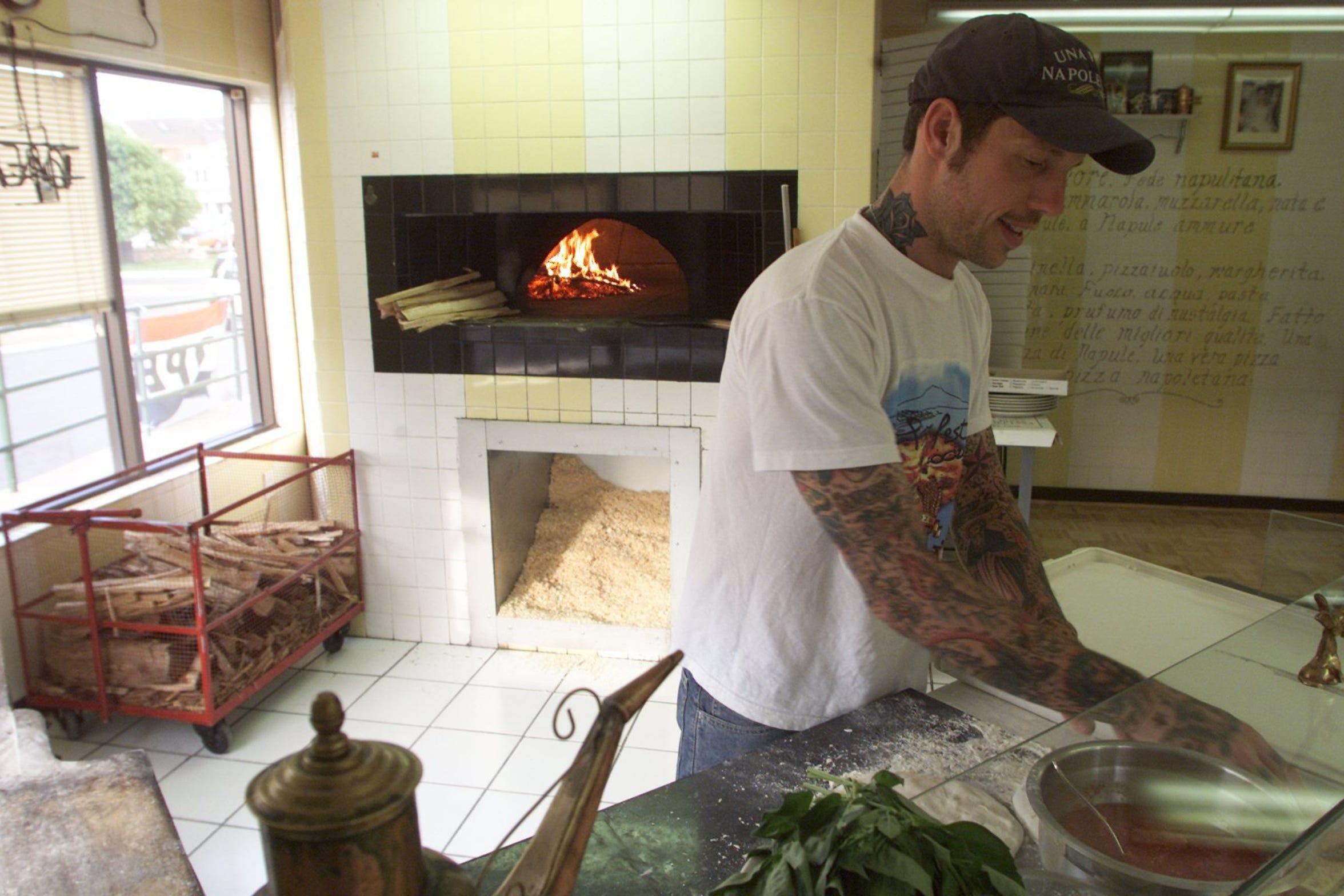 Anthony Mangieri in his first Una Pizza Napoletana restaurant in Point Pleasant Beach in 2003.