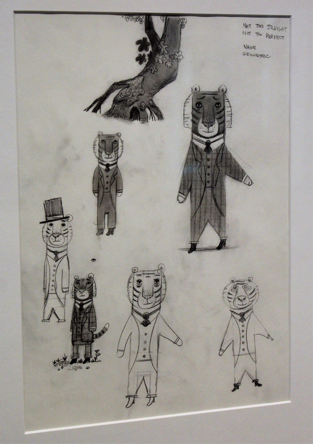 "Peter Brown's drawings of Mr. Tiger, star of ""Mr. Tiger Goes Wild"" can be viewed at the National Center for Children's Illustrated Literature."