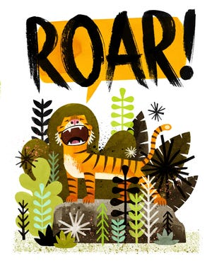 """From Peter Brown's picture book """"Mr. Tiger Goes Wild."""""""
