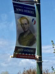 A banner at Omaha Beach displaying the photo of late Montreat Mayor Andy Andrews was spotted by Western North Carolina resident Doug Orr while visiting Normandy in April 2019. Andrews fought at Normandy as a machine-gunner in the U.S. Army.