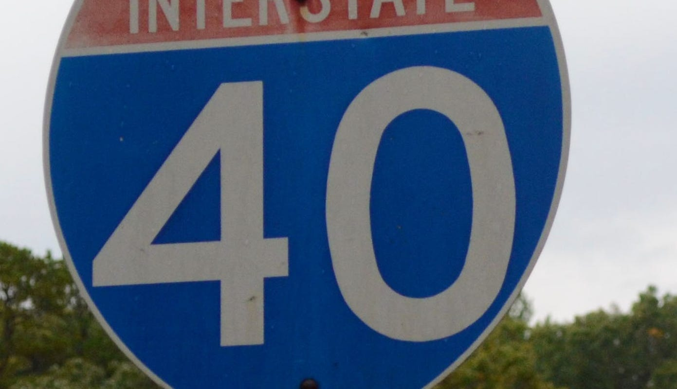 Interstate 40 West at Tennessee-North Carolina border will