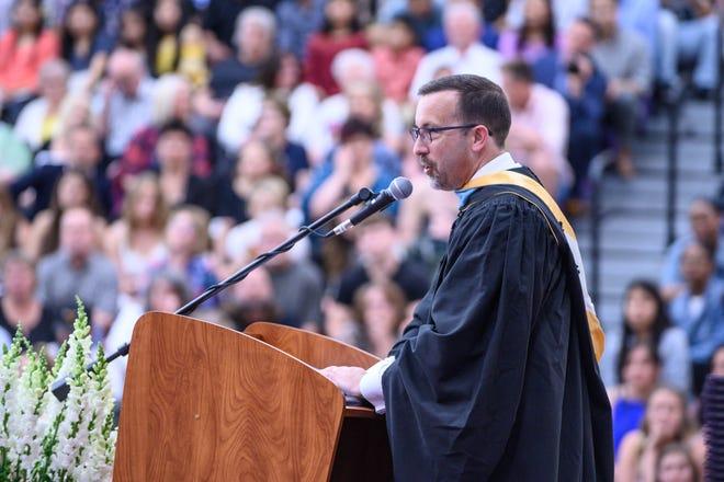 Superintendent Blake Prewitt during 2019 Lakeview Graduation Ceremony.