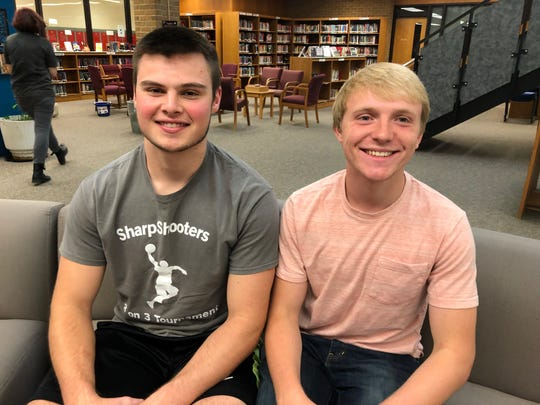 Top Drawer 24 winners for 2019 from Spencer-Van Etten High School are  Nathan Mack, left, and Levi Michelson.