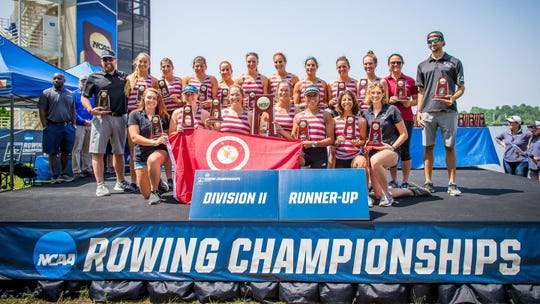 The Florida Tech women's rowing team finished second at the NCAA Division II rowing championship Sunday, June 2, 2019, in Indianapolis.