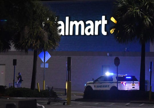 A fatal shooting at the Merritt Island Walmart on Sunday night resulted in the store being evacuated, as dozens of law enforcement and first responders arrived at the scene.