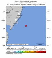 An earthquake with a 2.0 magnitude was recorded Saturday morning off the coast of Brigantine.