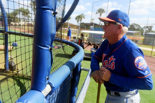 Rich Donnelly is Major League Spring Training coordinator for the New York Mets. He also will run the organization's extended spring training before heading to Kingsport, Tennessee, to manage the club's affiliate in the Appalachian Rookie League. Patrick Dove/Treasure Coast News via USA Today NETWORK