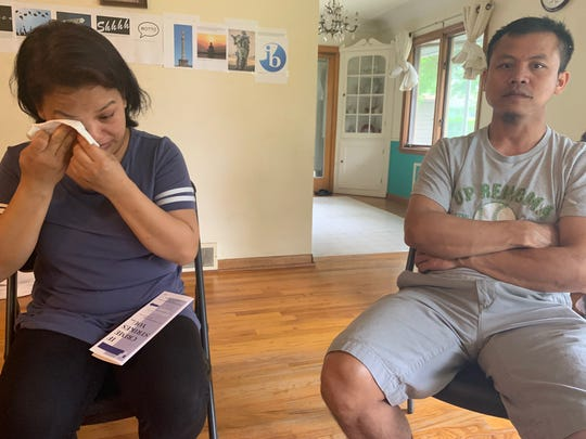 "Van Lal Ven, left, and Lal Eng Zau were emotional at times when talking about their son Van ""James"" Cin Lian on Monday, June 3, 2019 in Des Moines. The 13-year-old boy drown in a quarry-turned-pond on Des Moines' north side three days earlier."