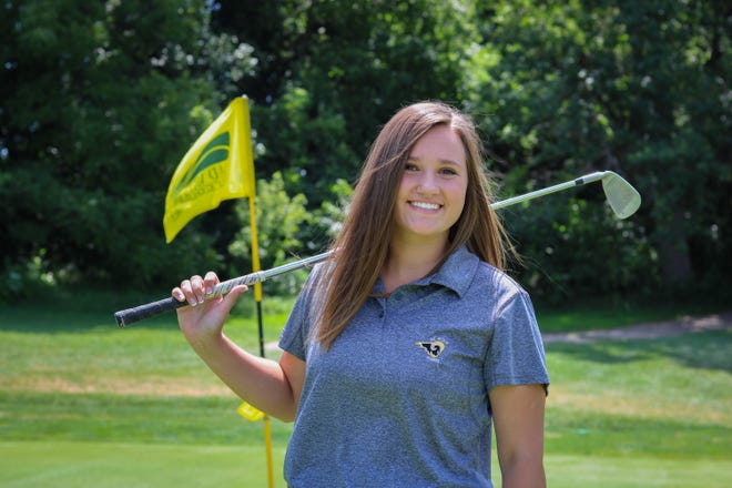 Southeast Polk's Jenna Vignovich finished her senior season with a 18th place finish at a regional golf tournament in May.