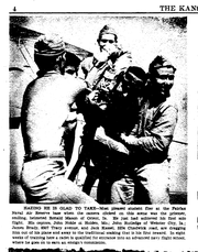 "The Kansas City Star ran a photograph and brief on Sunday, October 5, 1941, on Ronald Mason's ""wetting-down"" ceremony, in which naval aviators were celebrated for achieving their first solo flight. Mason is pictured center, smiling, being dragged out of the plane and drenched with water, as the tradition goes."