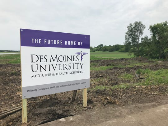 Des Moines University revealed the proposed site for its new campus in West Des Moines on Monday, June 3, 2019.