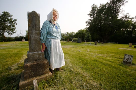 Lynnea Young of Lacona will play Mary Ferguson who lived from 1842 to 1933. Ferguson had 16 children, but half died before the age of 16. Young is one of the actors taking part in When Headstones Talk June 8 and June 9, a tour of the Indianola Independent Order of Odd Fellows Cemetery.